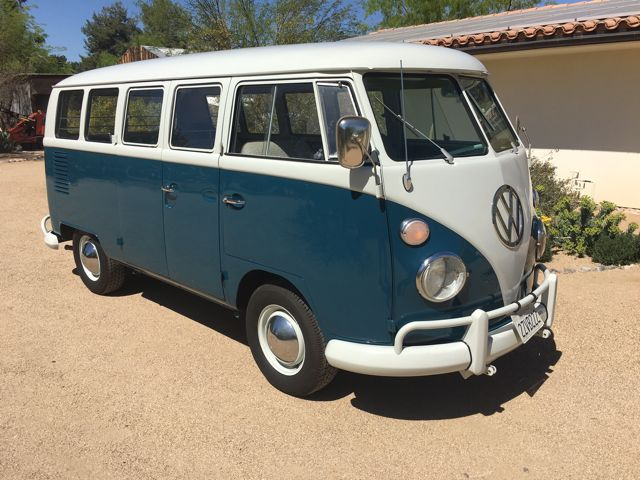 1967 vw deluxe 13 window microbus for sale. Black Bedroom Furniture Sets. Home Design Ideas